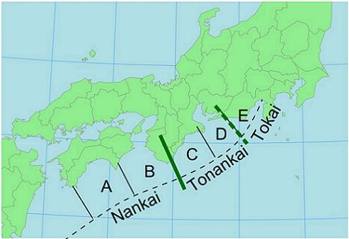 Subducción Nankai