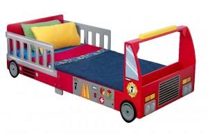 Cama infantil de camión de bomberos