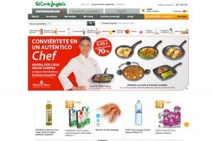Web de compra online del supermercado de El Corte Inglés