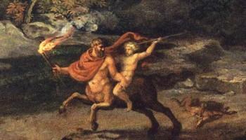 Aquiles y Quirón