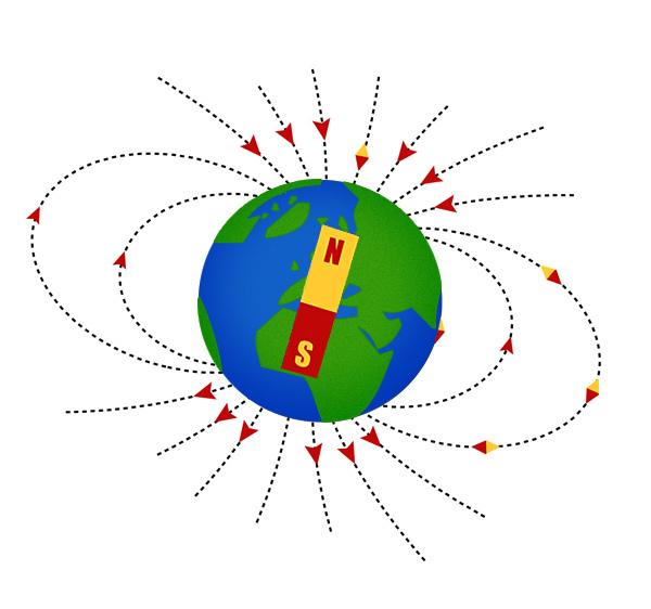 El campo magnético de la Tierra se debilita más rápido de lo previsto