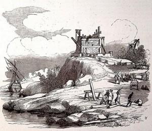 La Navidad en un grabado del siglo XIX. Dominio público