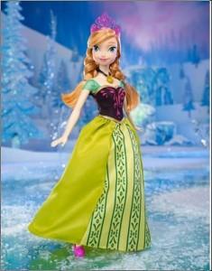 Las Princesa Ana con vestido de gala, de la colección muñecas Frozen