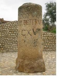 Milario, piedra que marcaba mil pasos en la Vía de la Plata (imagen propia)