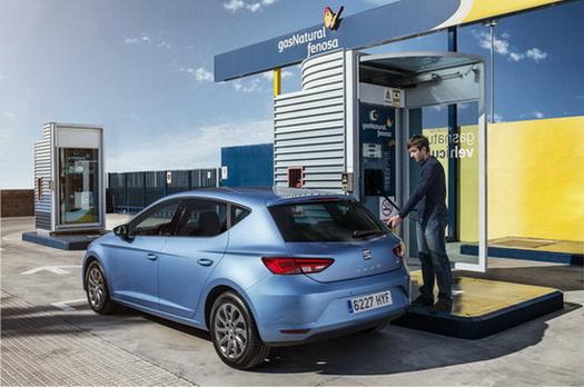 Recreación de un punto de gas natural para que repostar combustible