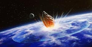 Recreación de la colisión de un meteorito contra la Tierra - Dominio Público NASA