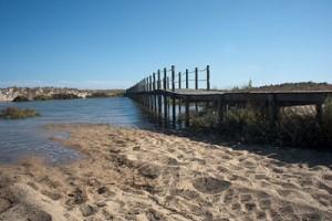 -Puente de acceso a la play sobre la Ría Formosa-Niel Holtzappel