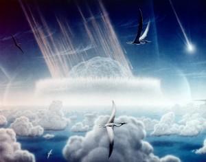Recreación del impacto del meteorito que acabó con los dinosaurios - Dominion Público Donald E. Davis/NASA