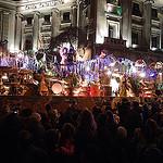 Parte del recorrido de la Cabalgata de los Reyes en Barcelona