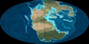 Paleogeografía del planeta durante la edad triásica - CC-by-sa Ron Blakey, NAU Geology