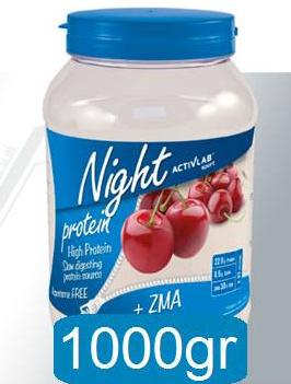 Los suplementos de caseína, muy recomendados para ingerir antes de dormir. Foto gentileza de Activlab.