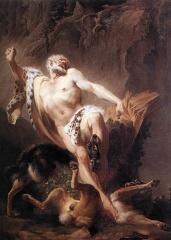 Milón de Crotona visto por Joseph Benoit