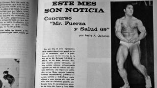 """Salvador Ruiz, en 1969, cuando ganó su primera competición. Foto revista """"Las Pesas""""."""