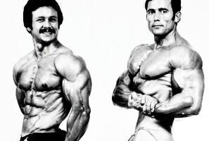 Salvador Ruiz y Anibal López, campeonato del mundo de culturismo 1978