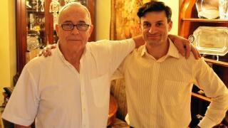 """Salvador Ruiz y A. Febus durante el rodaje de """"Francisco del Yerro, El Mito"""" (2011). Foto Agencia Febus."""