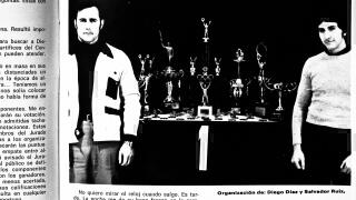 """Salvador Ruiz y Diego Díaz, organizadores del Trofeo Olimpia 1974. Foto, revista """"Las Pesas""""."""