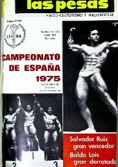 """Salvador Ruiz en 1975. Cubierta revista """"las Pesas"""", digitalización Agencia Febus."""