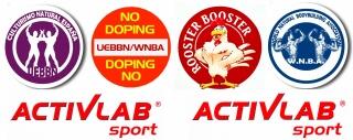 Activlab, patrocinador principal de UEBBN/WNBA. Diseño Yoam Montes y Activlab.