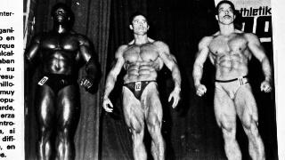 """A la izquierda de Salvador Ruiz está Bertil Fox que sucumbió ante el español en el europeo profesional de 1979. Foto, revista """"Gente sana""""."""