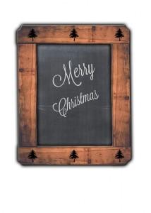 Pizarra Feliz Navidad Vintage. Imagen libre de derechos