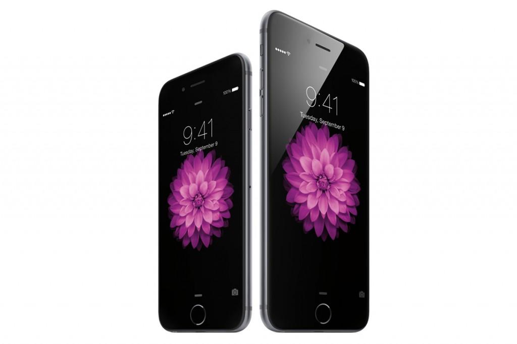 Imagen en detalle de un iPhone 6 Plus, de mayor tamaño que el Iphone 6