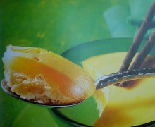 Pastel melocotón