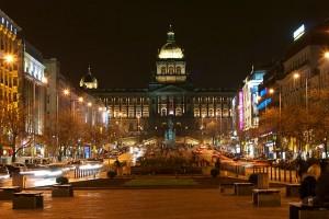 Vista de la Plaza de San Wenceslao, en la parte moderna de la capital checa