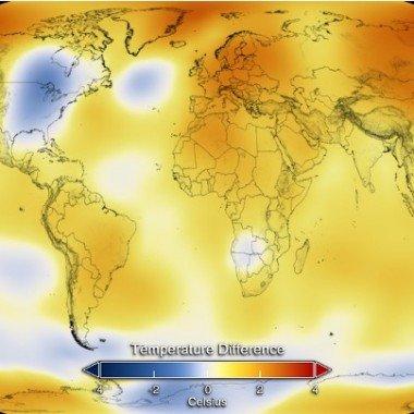 Anomalía temperatura 2014