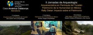Cartel las II Jornadas de Arqueología de América presidido por Alex Guerra Terra