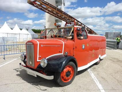 Camión de bomberos de 1949 - Salón Internacional de Vehículos Clásicos de Madrid