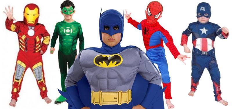 Disfraces de superhéroes para niños ¡por menos de 25€!