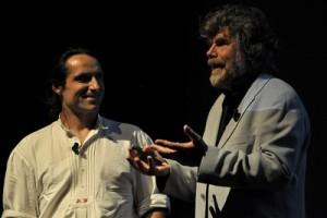 El alemán Alex Huber con Reinhold Messner en 2001- Alberto