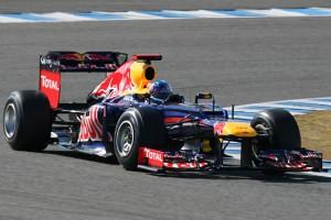Un monoplaza durante una carrera de F1