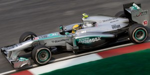 Imagen del monoplaza de Mercedes conducido por Hamilton, actual campeón del mundo