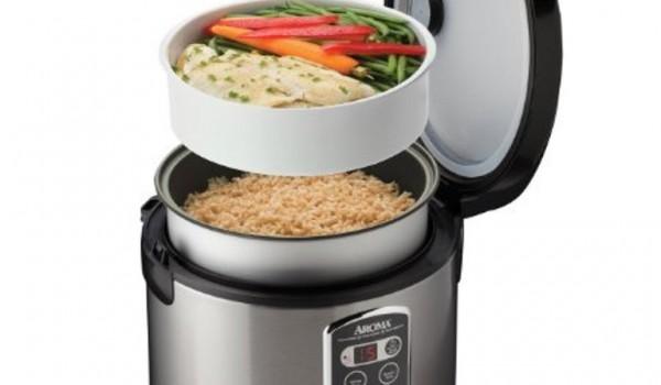 Cocinar arroz y alimentos al vapor