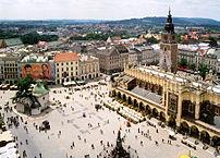 El centro histórico de Cracovia esta considerado como Patrimonio de la Humanidad