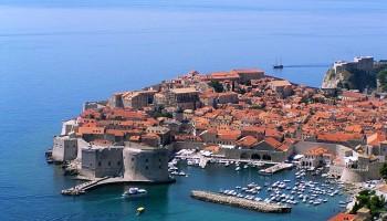 Vista de la ciudad amurallada de Dubrovnik – Imagen de