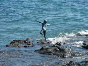 Niño bañista. Playa de Arinaga