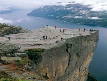 Mirador del Púlpito en Noruega