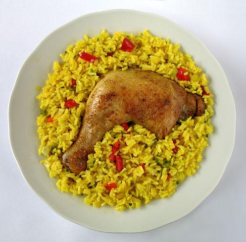 Receta de arroz con pollo del Perú