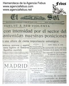 """Fotografía parcial del texto """"Madrid"""" de Antonio Machado. Hemeroteca Agencia Febus."""