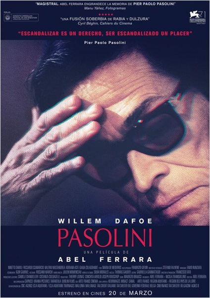 """Crítica de """"Pasolini"""", con Willem Dafoe: Pasos finales del Maestro."""