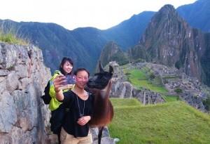 Selfie en Machu Picchu