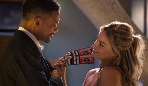 """""""Focus"""", fotograma de la película con los protagonistas: Will Smith y Margot Robbie"""