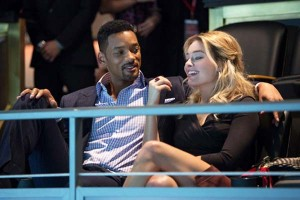 Escena de la película Focus, filme que protagoniza la actriz Margot Robbie junto al camaleónico artista Will Smith