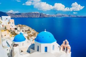 Mirador de Oia en la isla de Santorini