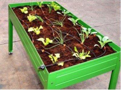La mesa de cultivo, gran solución para el huerto en la terraza