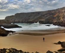 Playa en la zona de escalada de Sagres