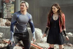 """Fotograma con dos de los actores  del filme """"Vengadores: La era de Ultrón"""""""