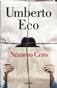"""Portada de """"Número cero"""", nueva novela de Umberto Eco"""